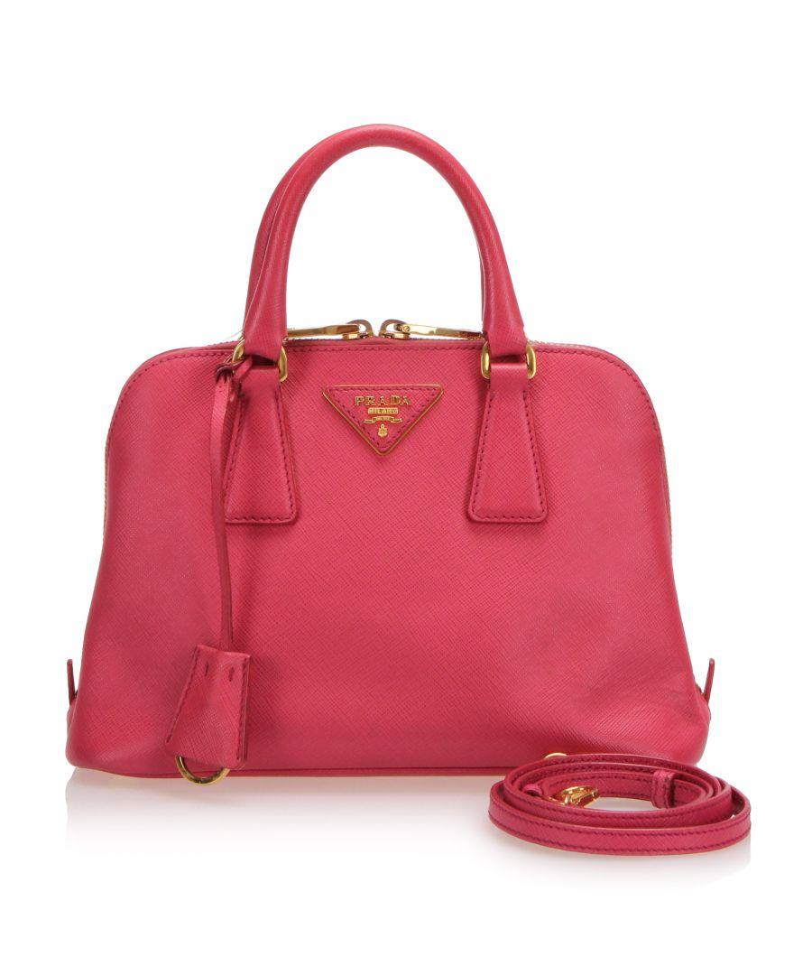 Image for Vintage Prada Saffiano Promenade Satchel Pink