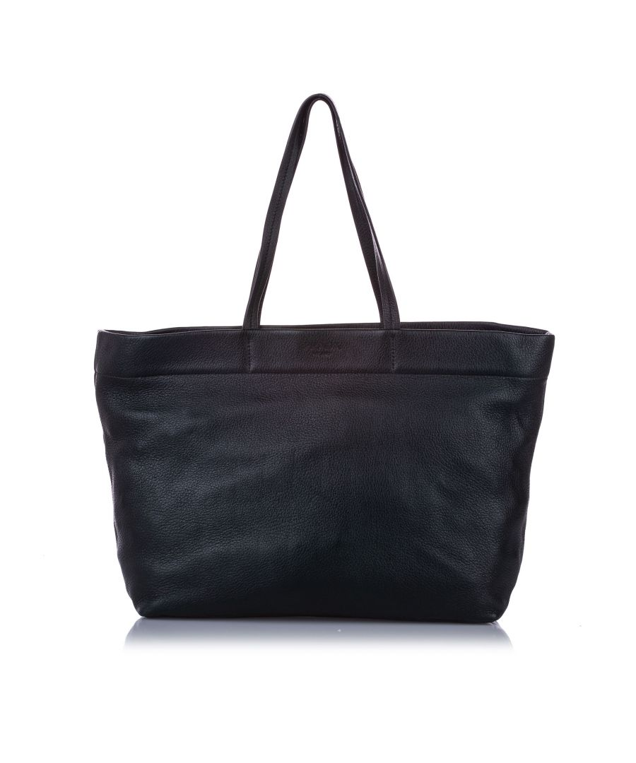 Image for Vintage Prada Leather Tote Bag Green