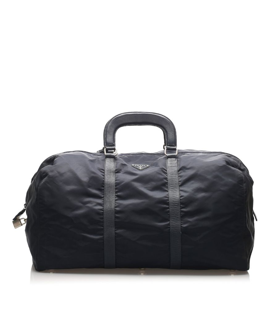 Image for Vintage Prada Tessuto Travel Bag Blue