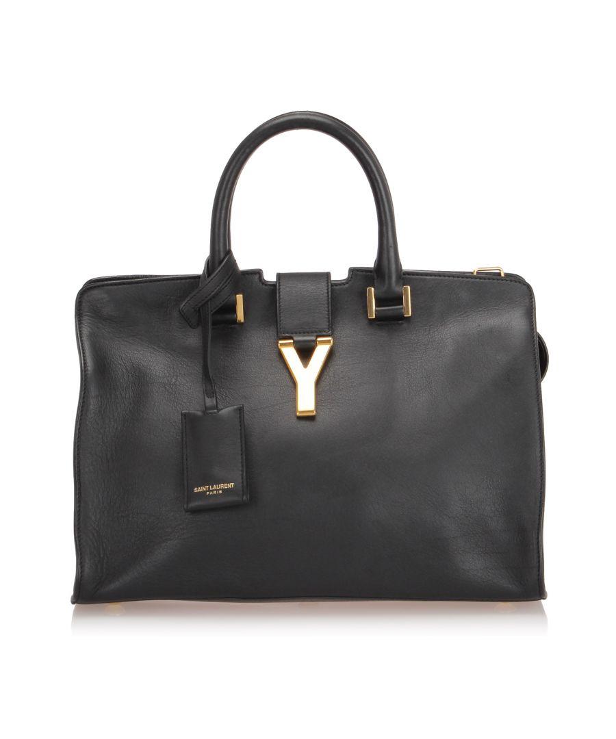 Image for Vintage YSL Cabas Chyc Leather Satchel Black