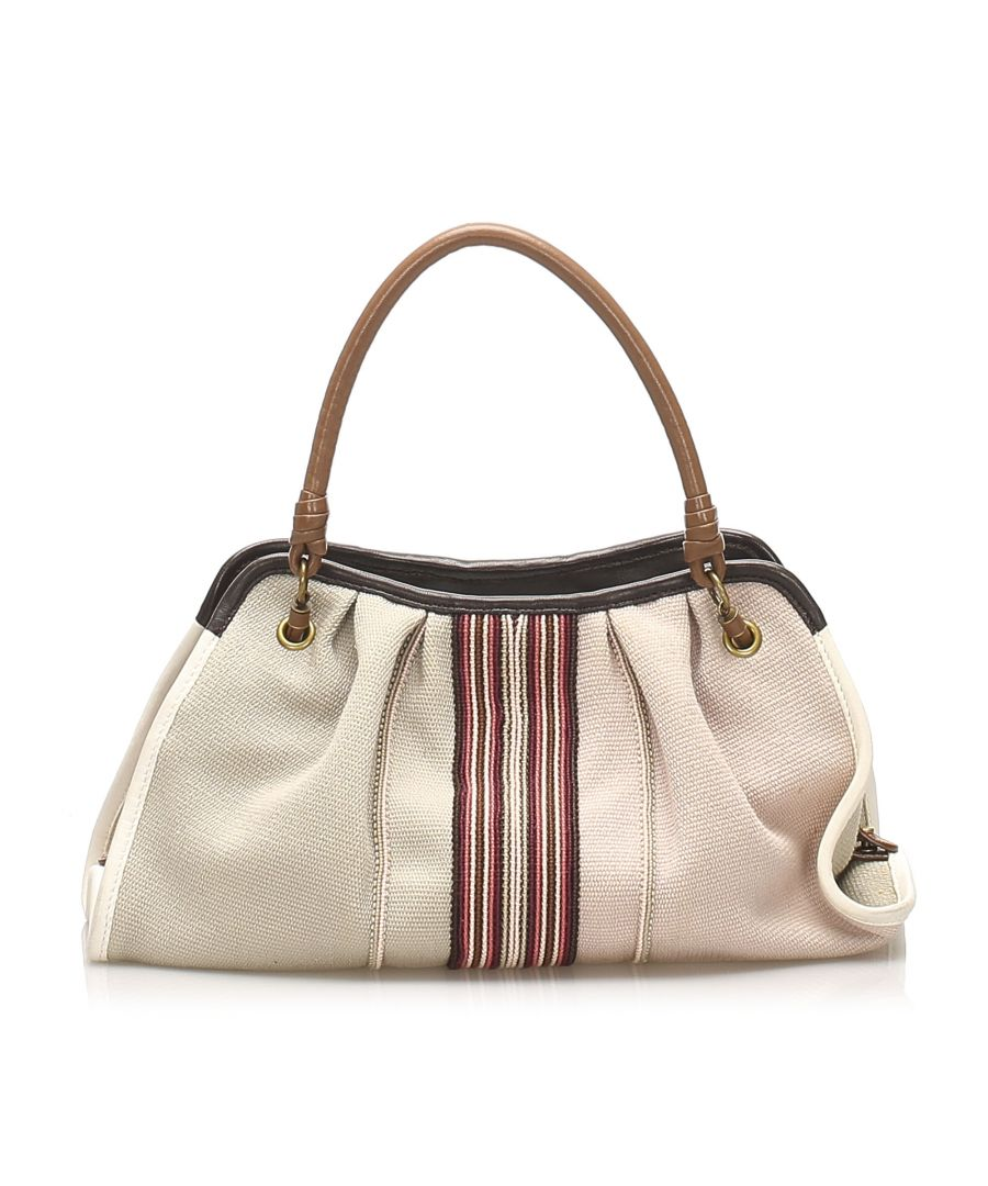 Image for Vintage Bottega Veneta Canvas Handbag Brown