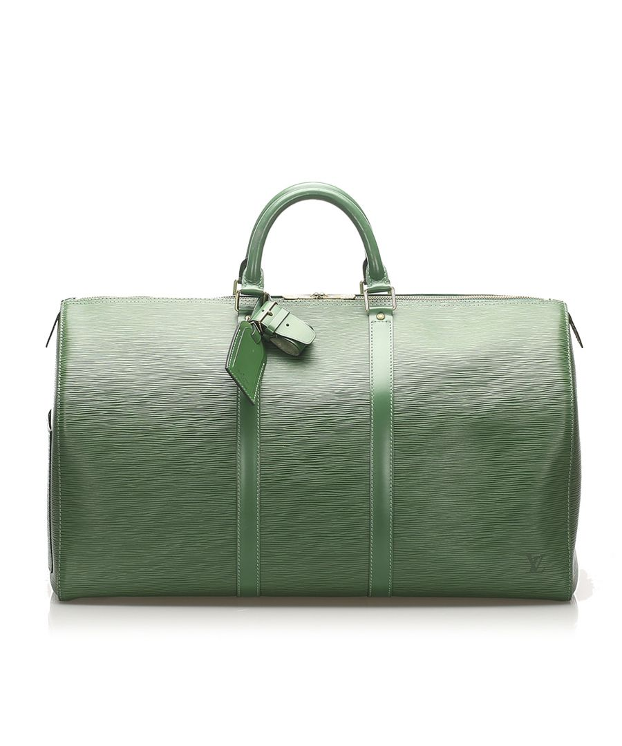 Image for Vintage Louis Vuitton Epi Keepall 55 Green