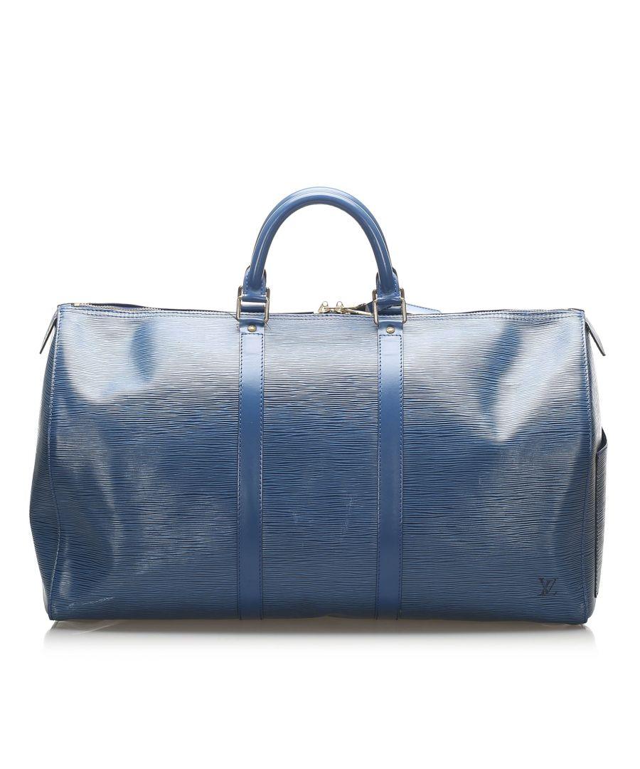 Image for Vintage Louis Vuitton Epi Keepall 50 Blue