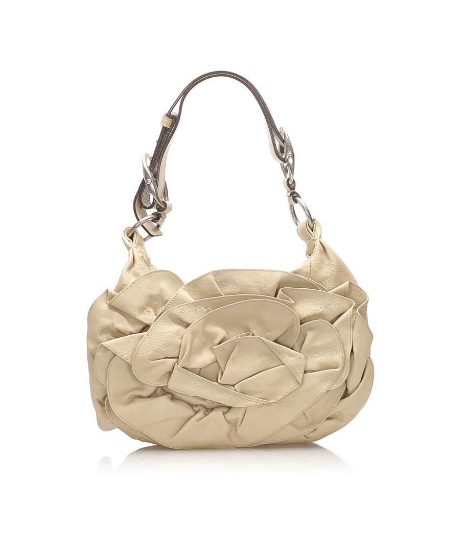 Image for Vintage YSL Nadia Leather Shoulder Bag White
