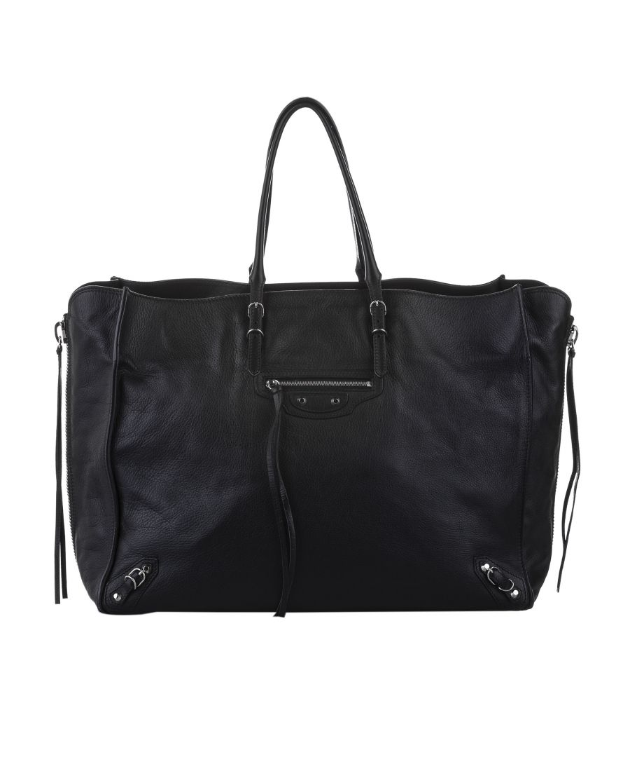 Image for Balenciaga Papier A4 Leather Zip-Around Tote Bag