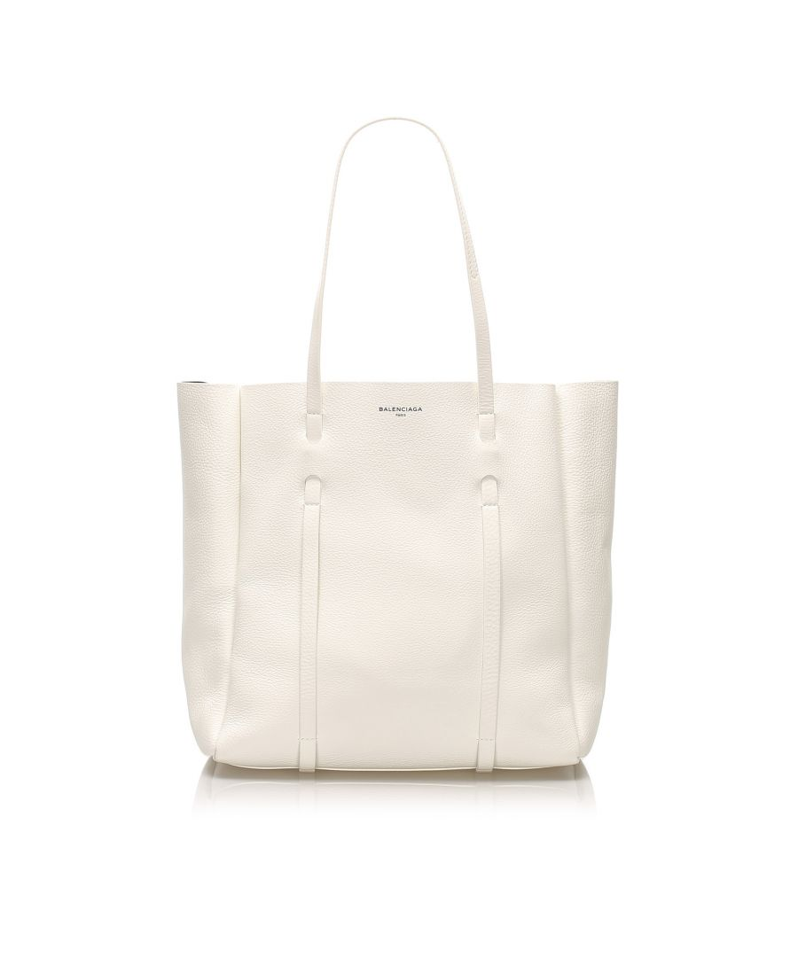 Image for Vintage Balenciaga S Everyday Leather Tote Bag White