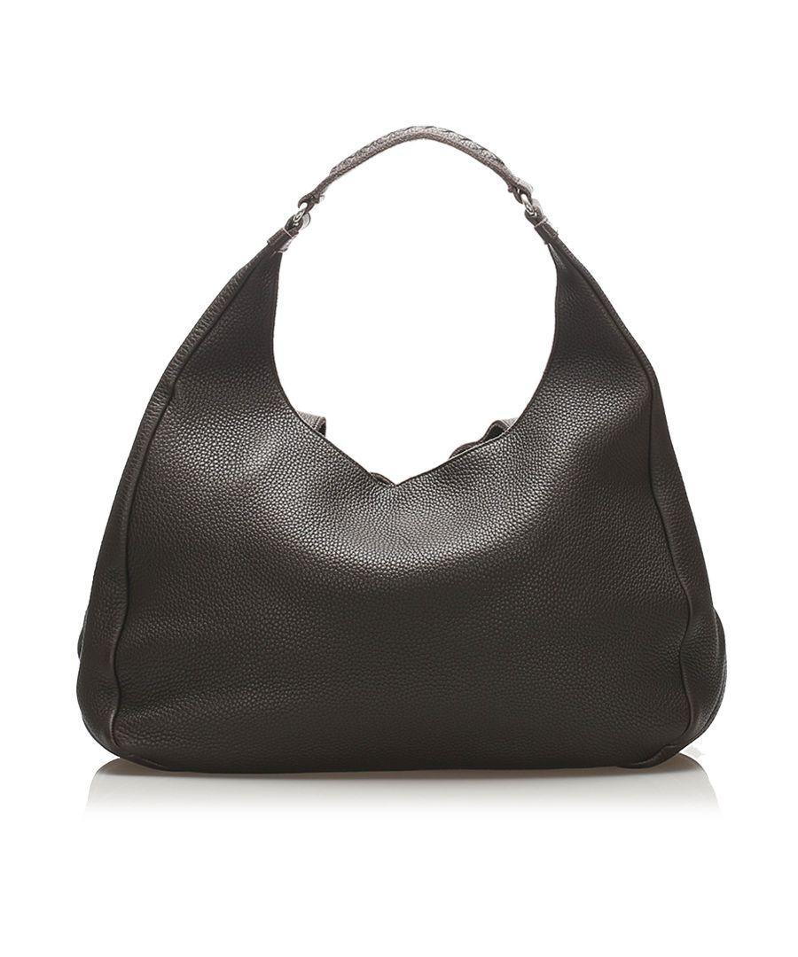 Image for Vintage Bottega Veneta Campana Leather Hobo Bag Brown