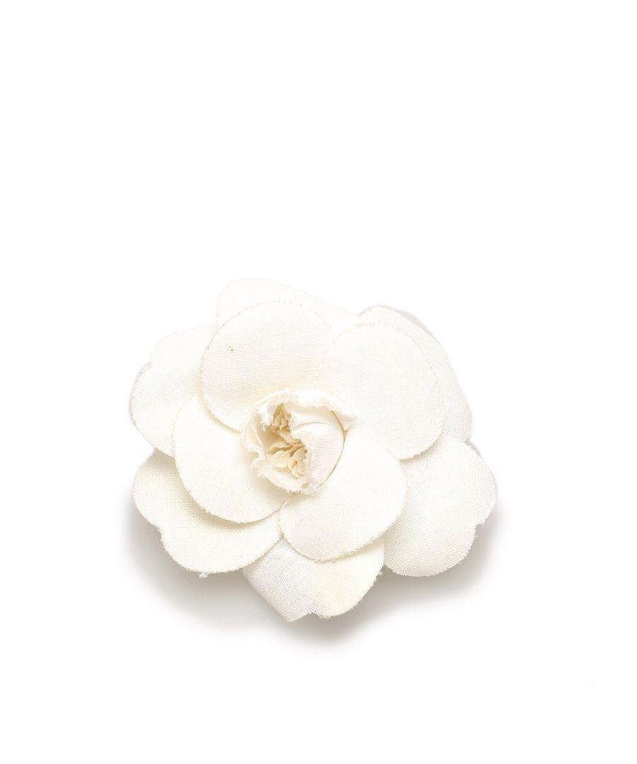 Image for Vintage Chanel Camellia Brooch White