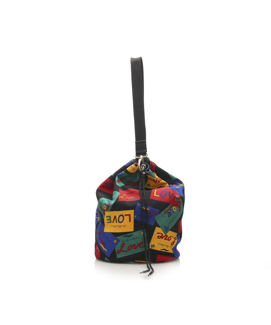 Image for Vintage YSL Printed Nylon Drawstring Bucket Bag Multi