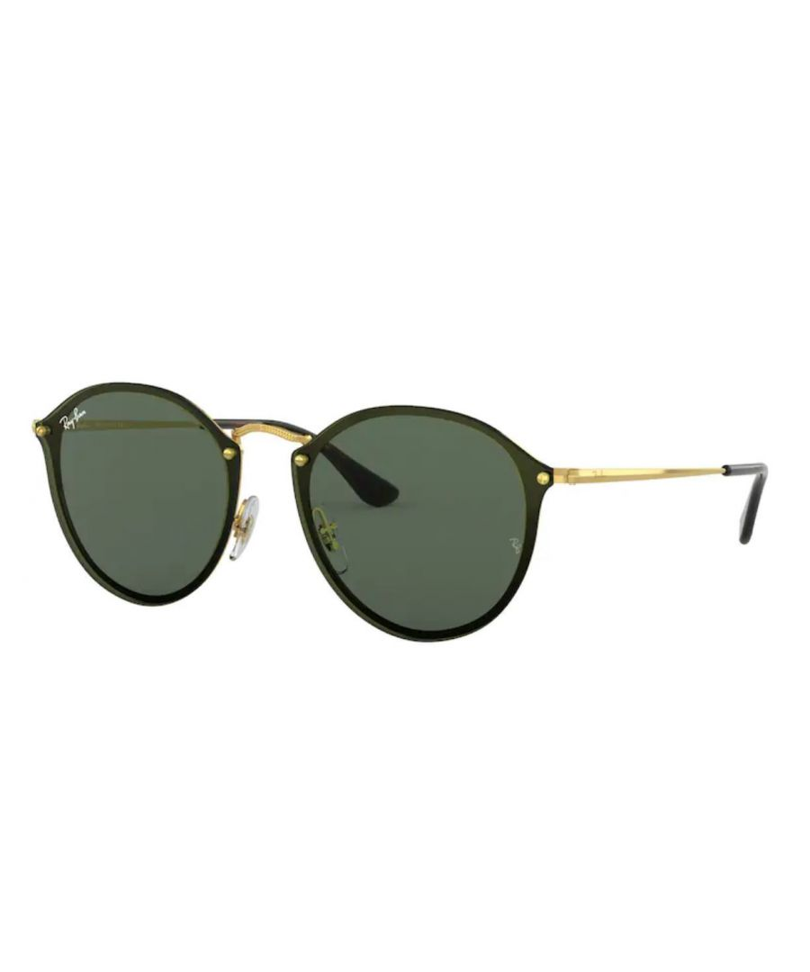 Image for Rayban Blaze round Sunglasses in black with grey lens