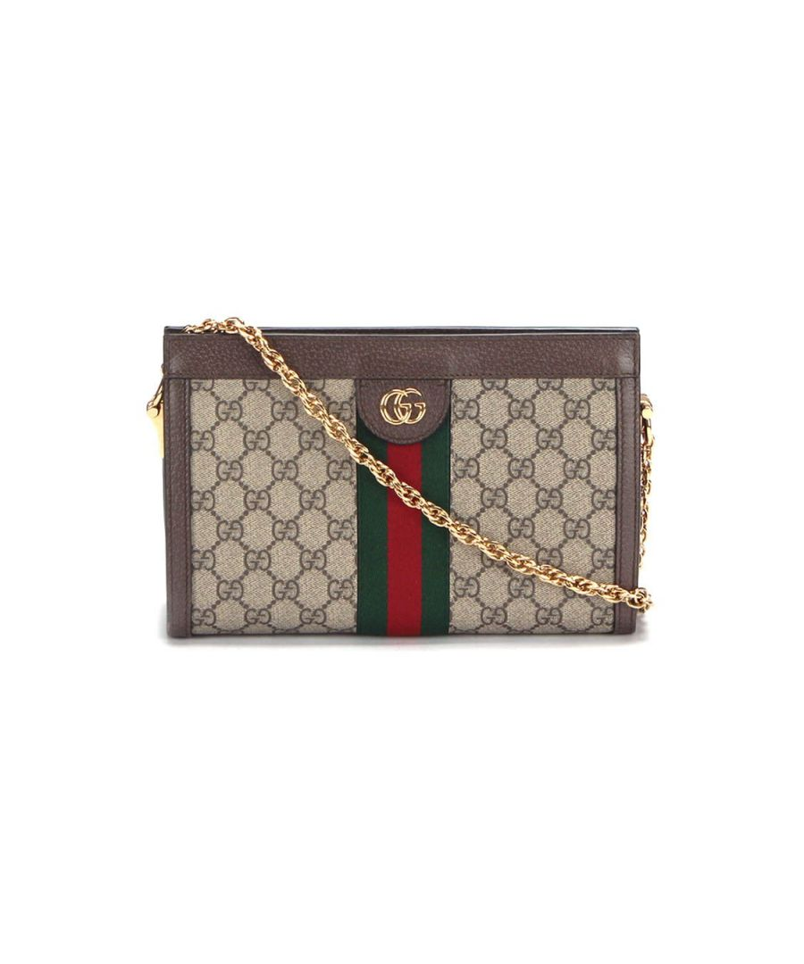 Image for Gucci Small Gg Supreme Ophidia Crossbody Bag in Brown - Pre Owned Condition Excellent