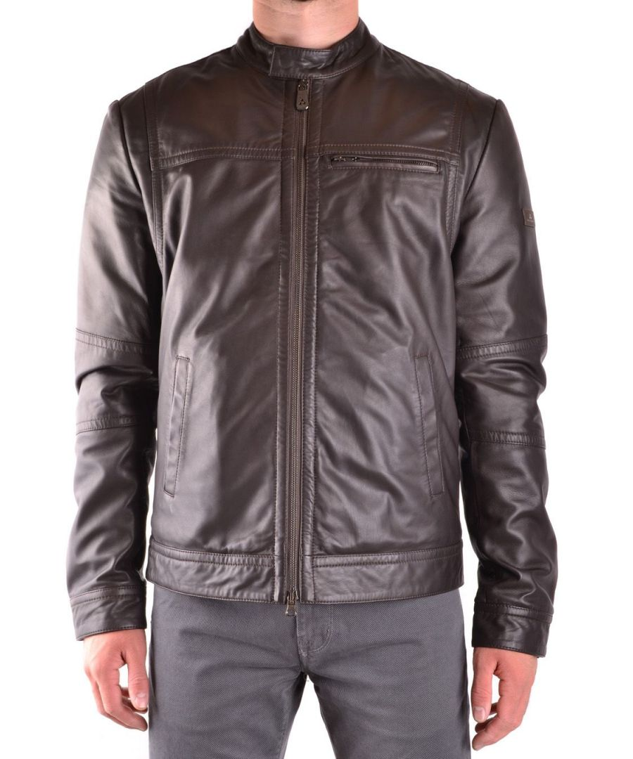 Image for PEUTEREY MEN'S SAGUARO01961 BROWN LEATHER OUTERWEAR JACKET
