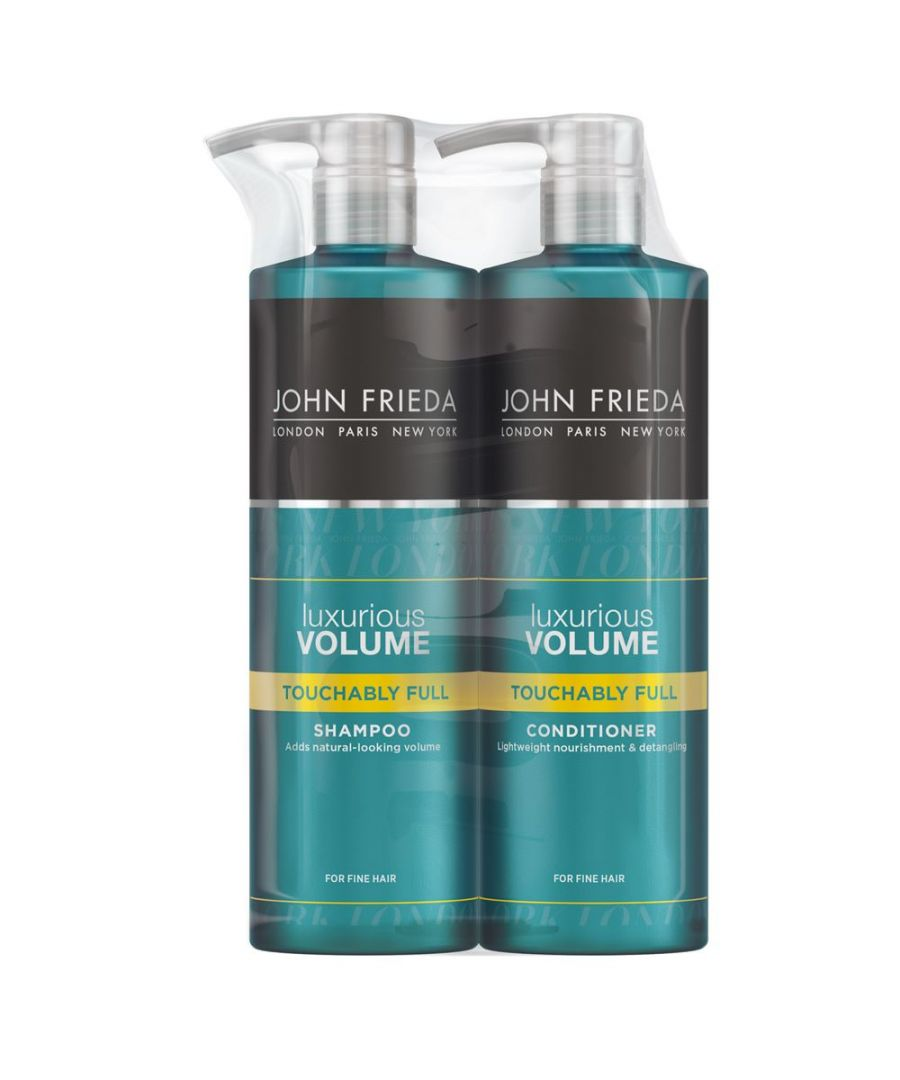 Image for John Frieda Luxurious Volume Touchably Full Hair Shampoo & Conditioner 500ml Duo Pack