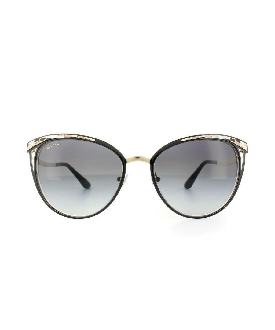 Image for Bvlgari Sunglasses 6083 20188G Black Pale Gold Grey Gradient