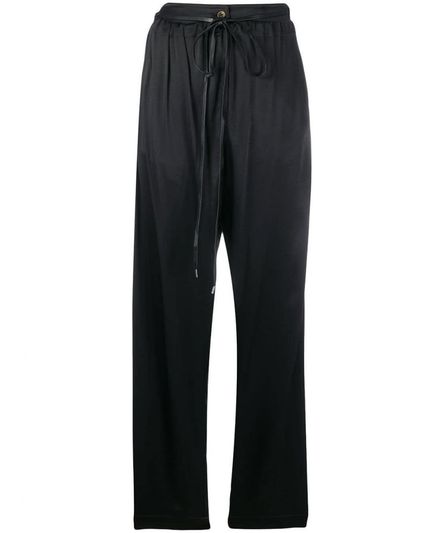Image for VIVIENNE WESTWOOD WOMEN'S 1203001610962CTN401 BLACK VISCOSE PANTS