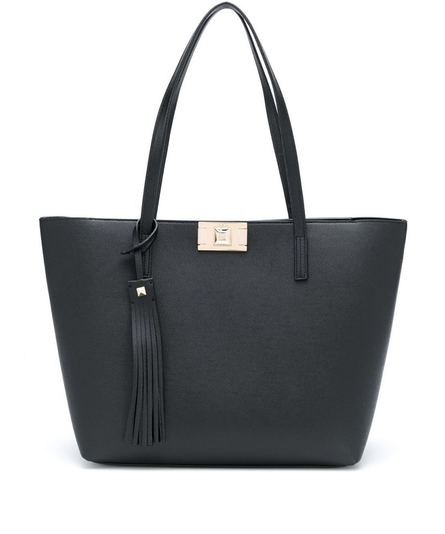 Image for FURLA WOMEN'S 1046370 BLACK LEATHER TOTE