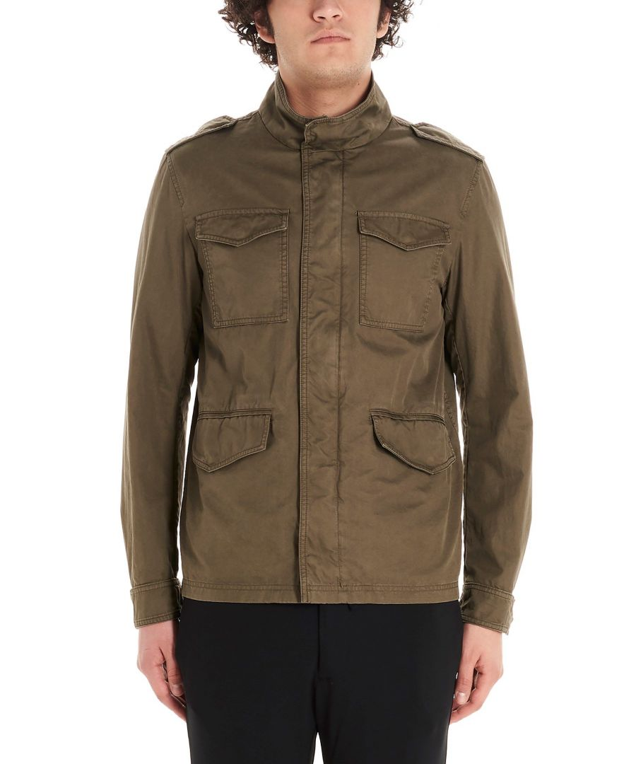 Image for HERNO MEN'S FI0063U132117730 GREEN COTTON OUTERWEAR JACKET