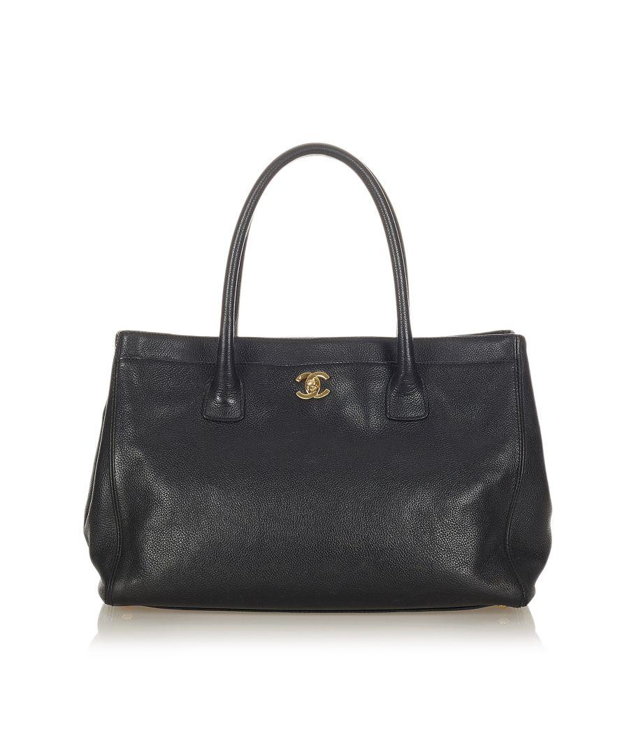 Image for Vintage Chanel Executive Cerf Satchel Black