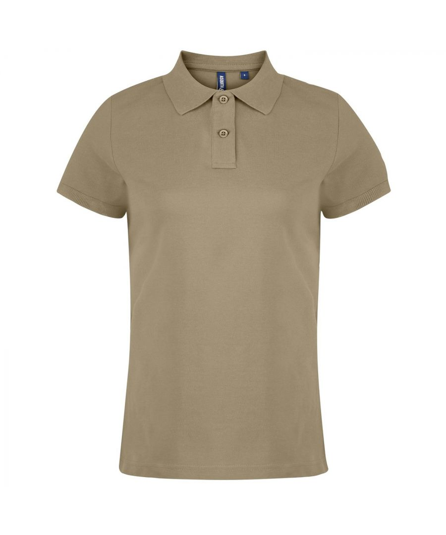 Image for Asquith & Fox Womens/Ladies Plain Short Sleeve Polo Shirt (Khaki)