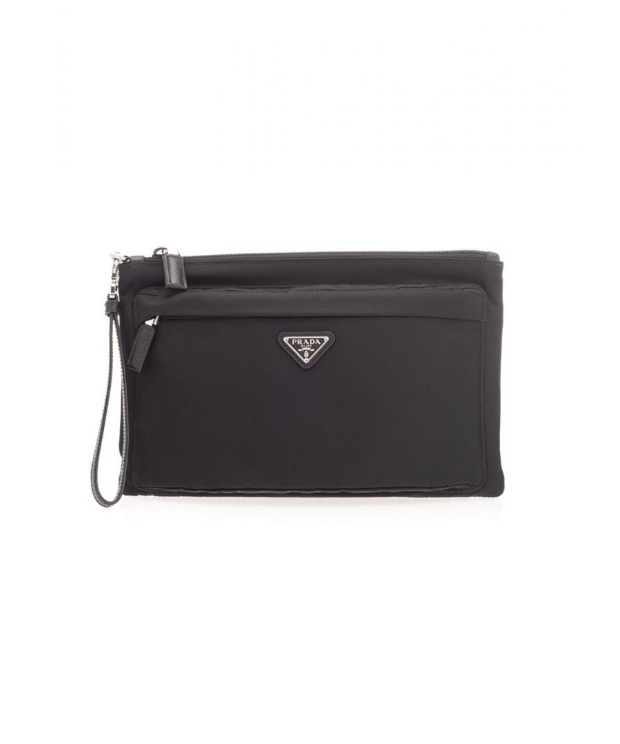 Image for PRADA MEN'S 2NH007064F0002 BLACK Nylon POUCH