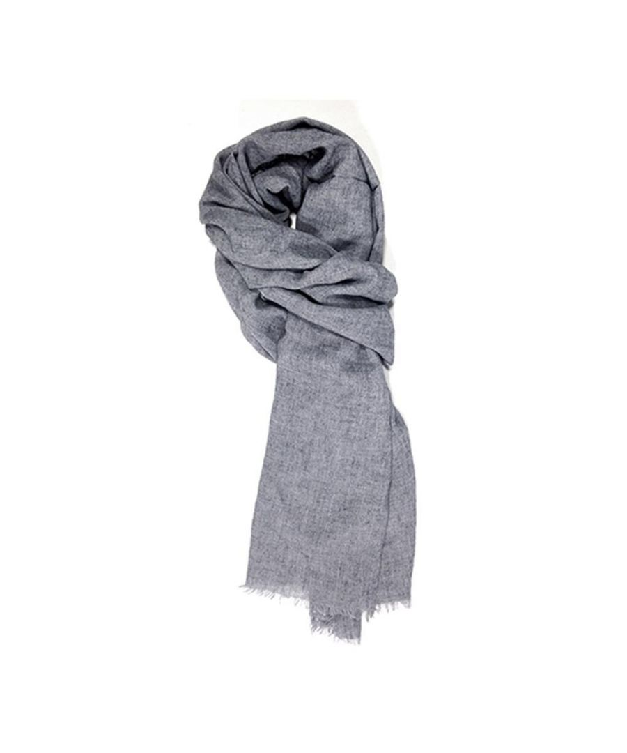Image for Men's Hackett, Solid Marl Scarf in Cool Grey