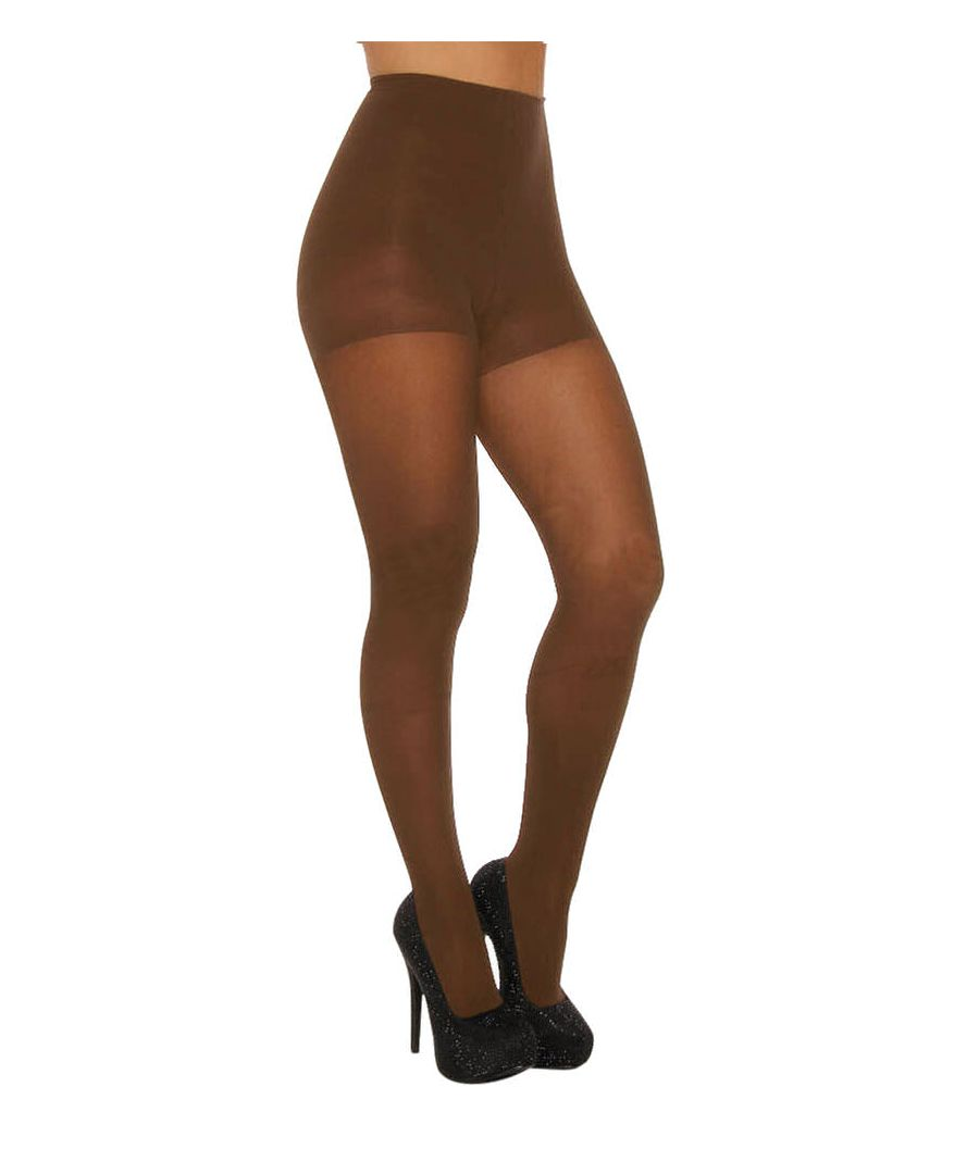 Image for Luxe Opaque Satin Control Top Tights