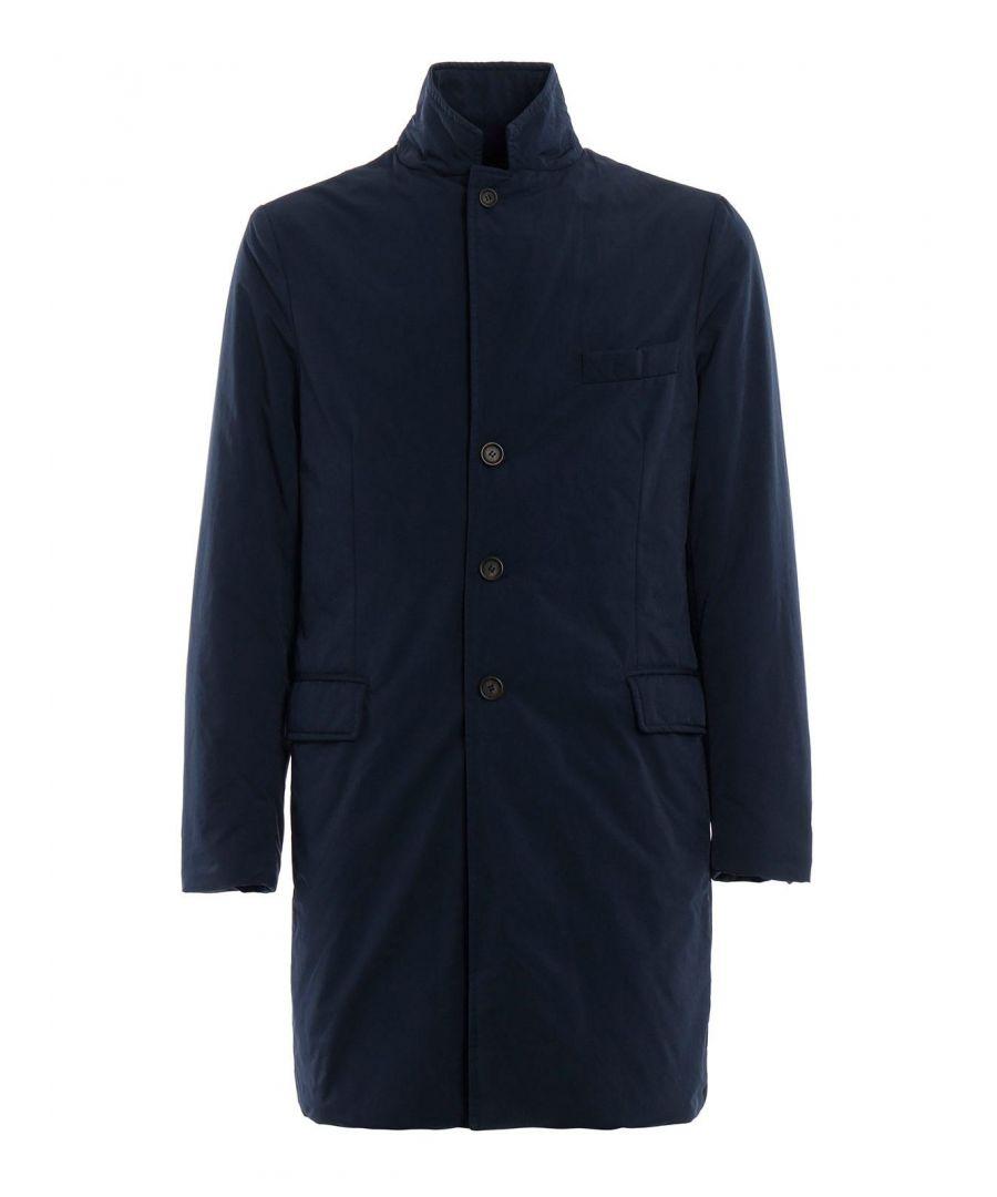 Image for ASPESI MEN'S 8I19997217100 BLUE POLYESTER COAT