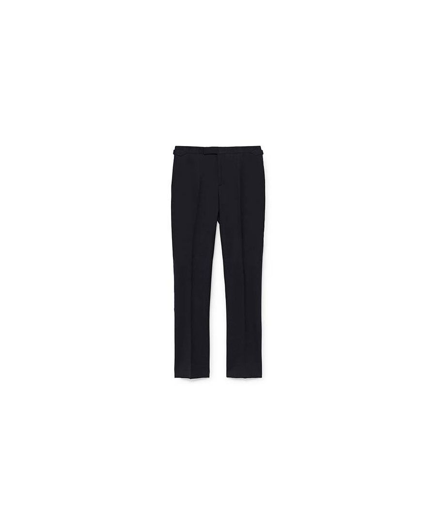 Image for Men's Hackett, Stretch Wool & Cotton Trousers in Charcoal