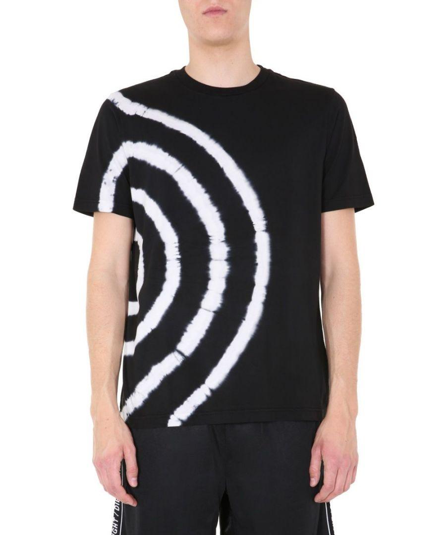 Image for DIESEL MEN'S 00SGRD0EAZI900A BLACK COTTON T-SHIRT