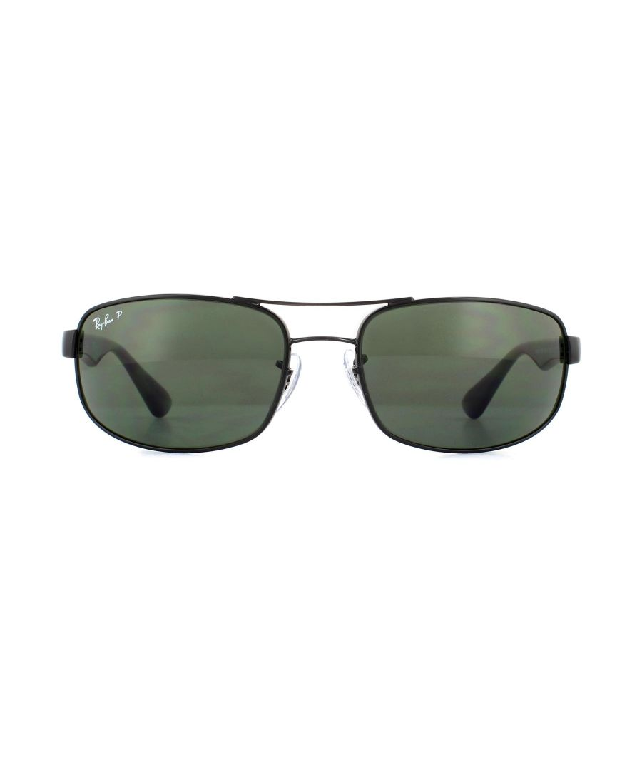 Image for Ray-Ban Sunglasses 3445 Black Green Polarized 002/58 61Mm