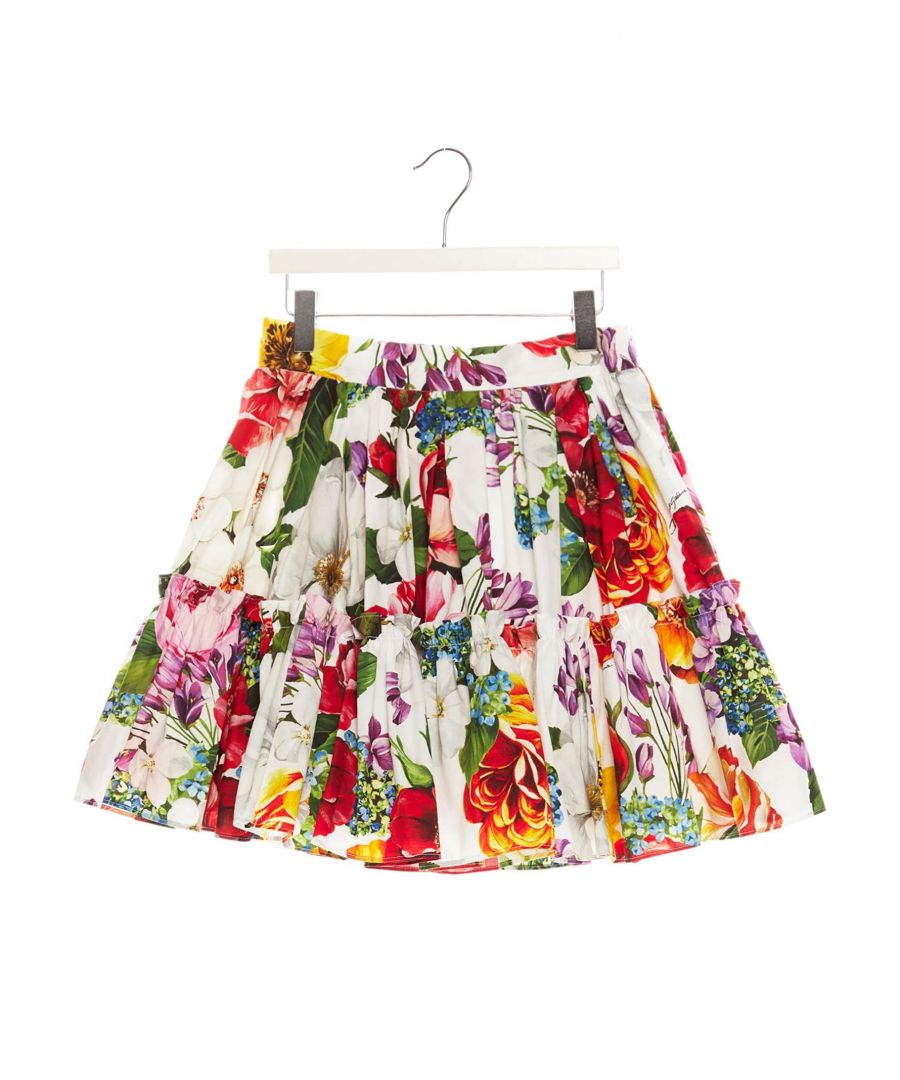 Image for DOLCE E GABBANA GIRLS L53I24HS5F9HA1AK MULTICOLOR COTTON SKIRT