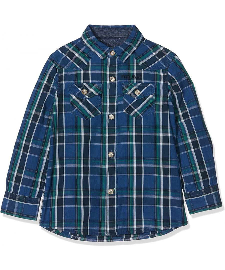 Image for Pepe Jeans Boys Rudy Shirt in Blue Check