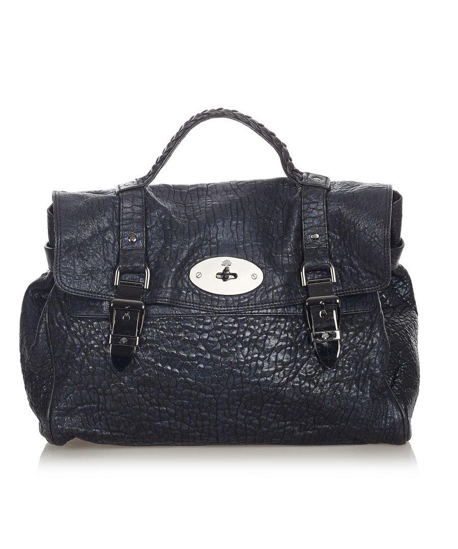 Image for Vintage Mulberry Alexa Leather Satchel Black