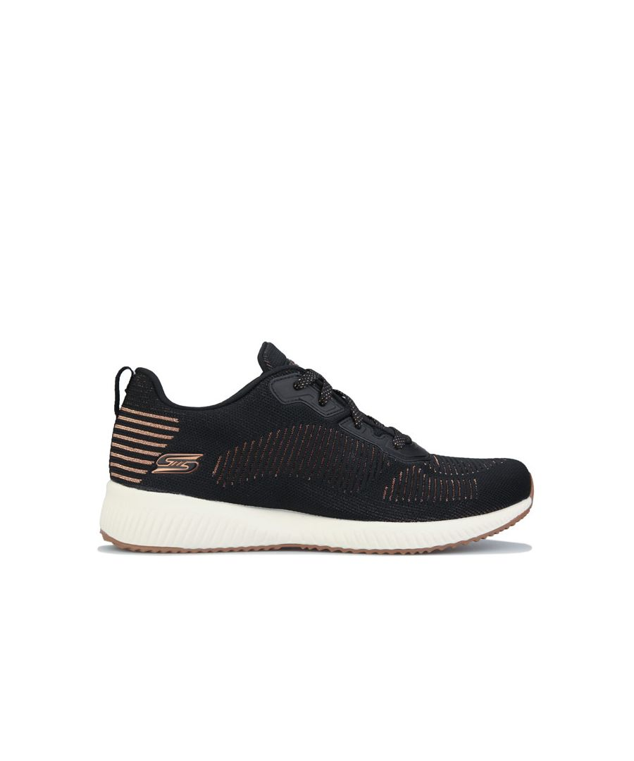 Image for Women's Skechers Bobs Squad Glam League Trainers In Black