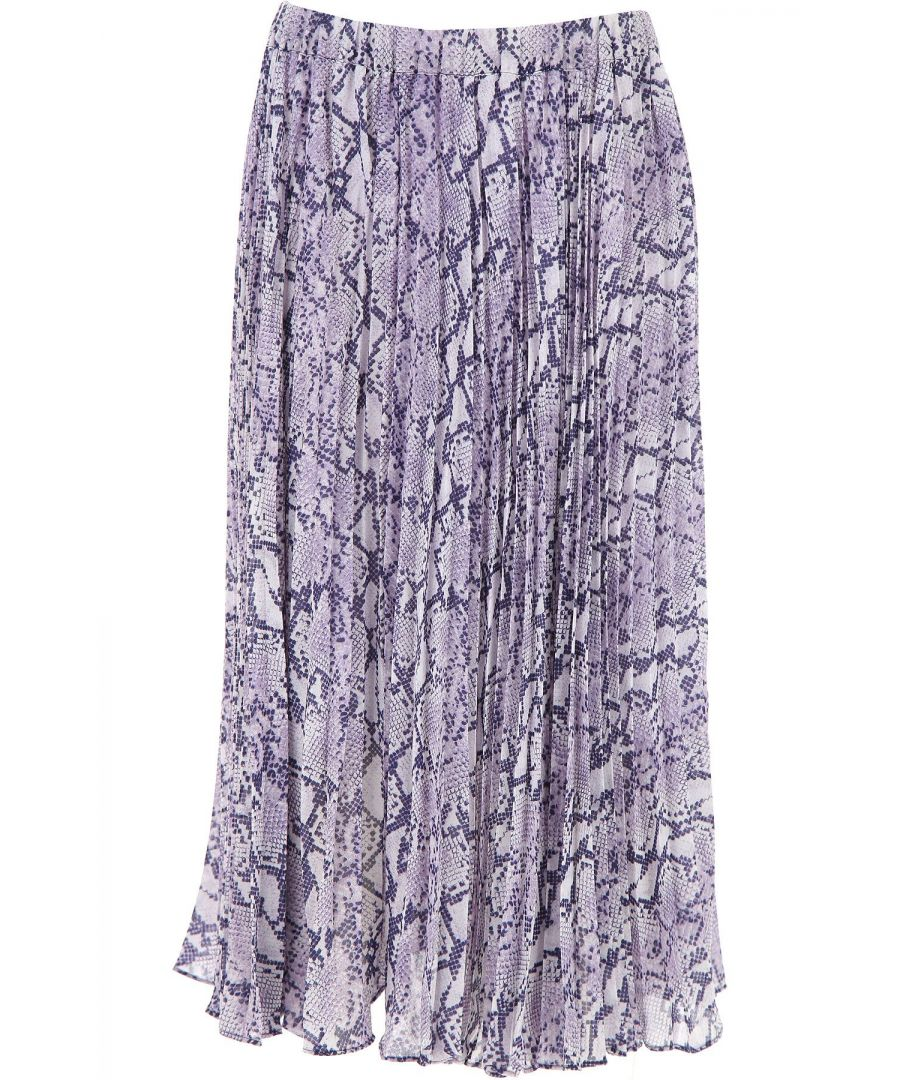 Image for MICHAEL KORS WOMEN'S MS07EZ0DYG562 PURPLE POLYESTER SKIRT