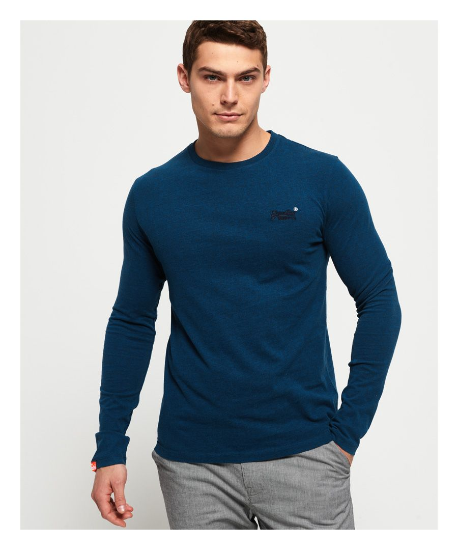 Image for Superdry Organic Cotton Vintage Embroidery Long Sleeve Top