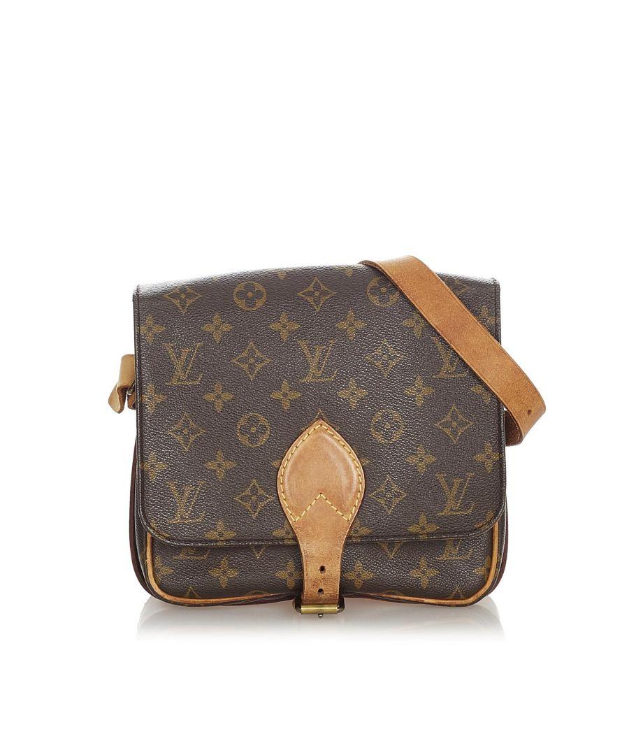 Image for Vintage Louis Vuitton Monogram Cartouchiere MM Brown