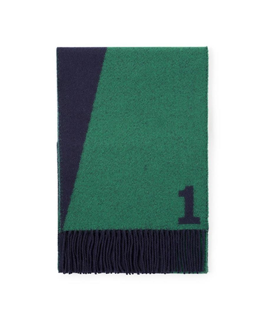 Image for Men's Hackett, Cowdray Scarf in Navy & Green