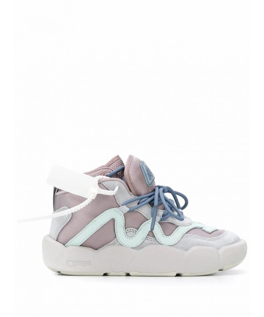 Image for OFF-WHITE WOMEN'S OWIA218S20FAB0010808 PINK POLYESTER HI TOP SNEAKERS