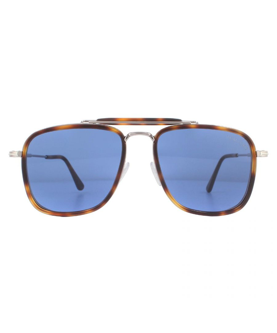 Image for Tom Ford Sunglasses Huck FT0665 53V Blonde Havana Blue