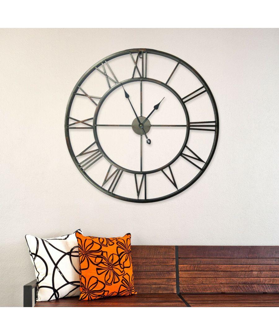 Image for Walplus Roman No. Iron Wall Clock 76cm clock, Bedroom, Living room, Modern, Home office essential, Gift, Oversize Clock