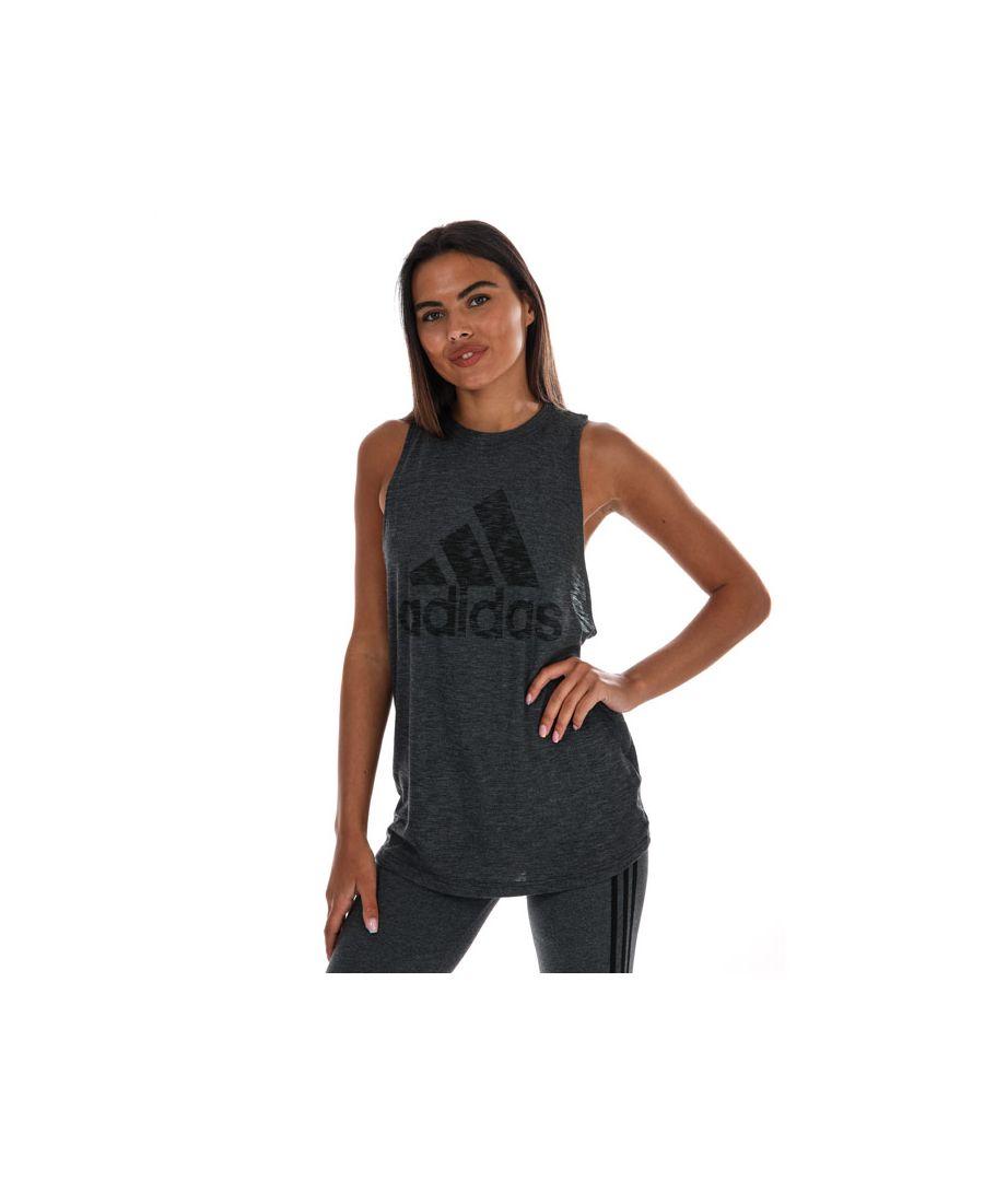 Image for Women's adidas Winners Tank Top In Black Marl