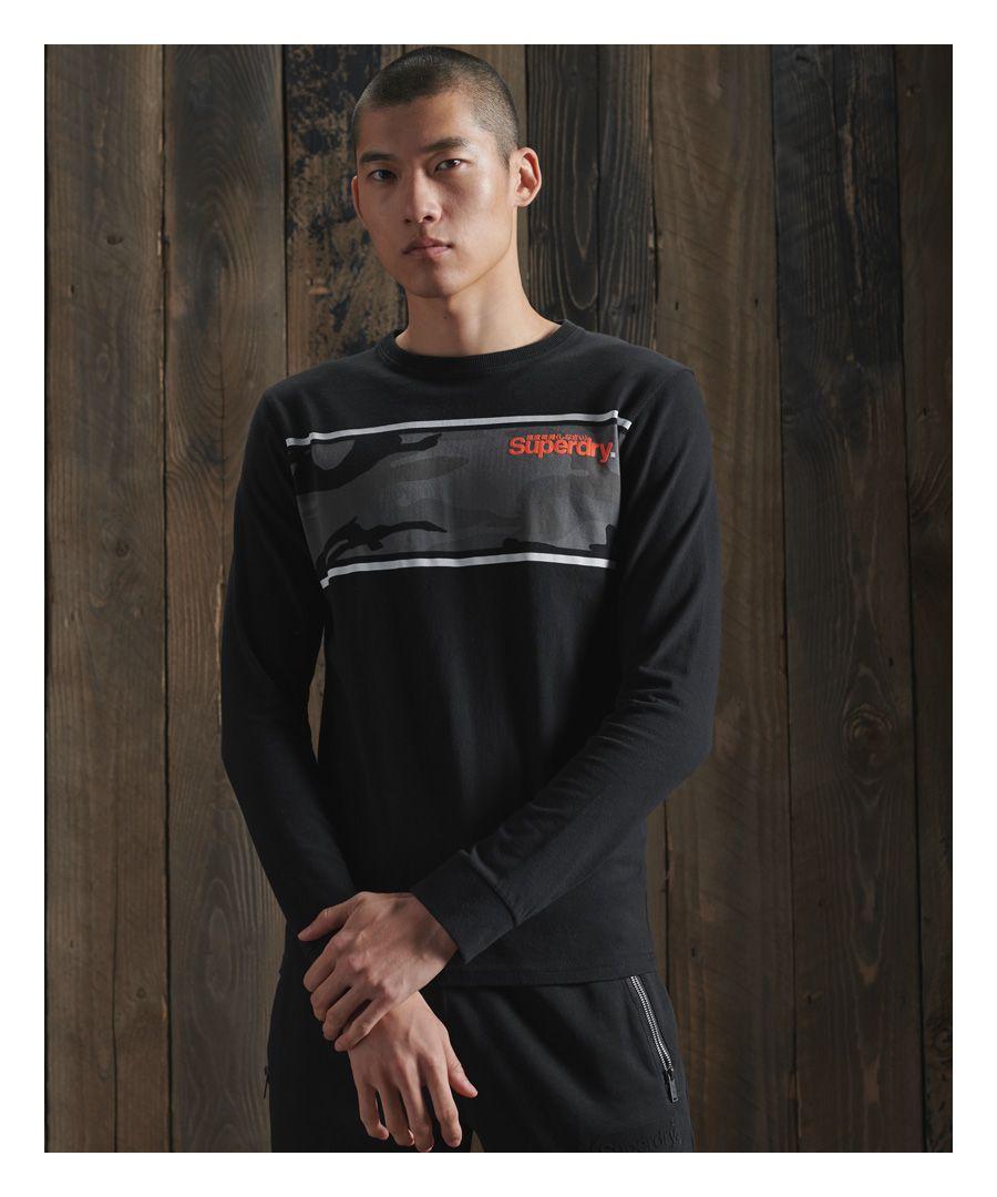 Image for Superdry Core Logo Camo Stripe T-Shirt