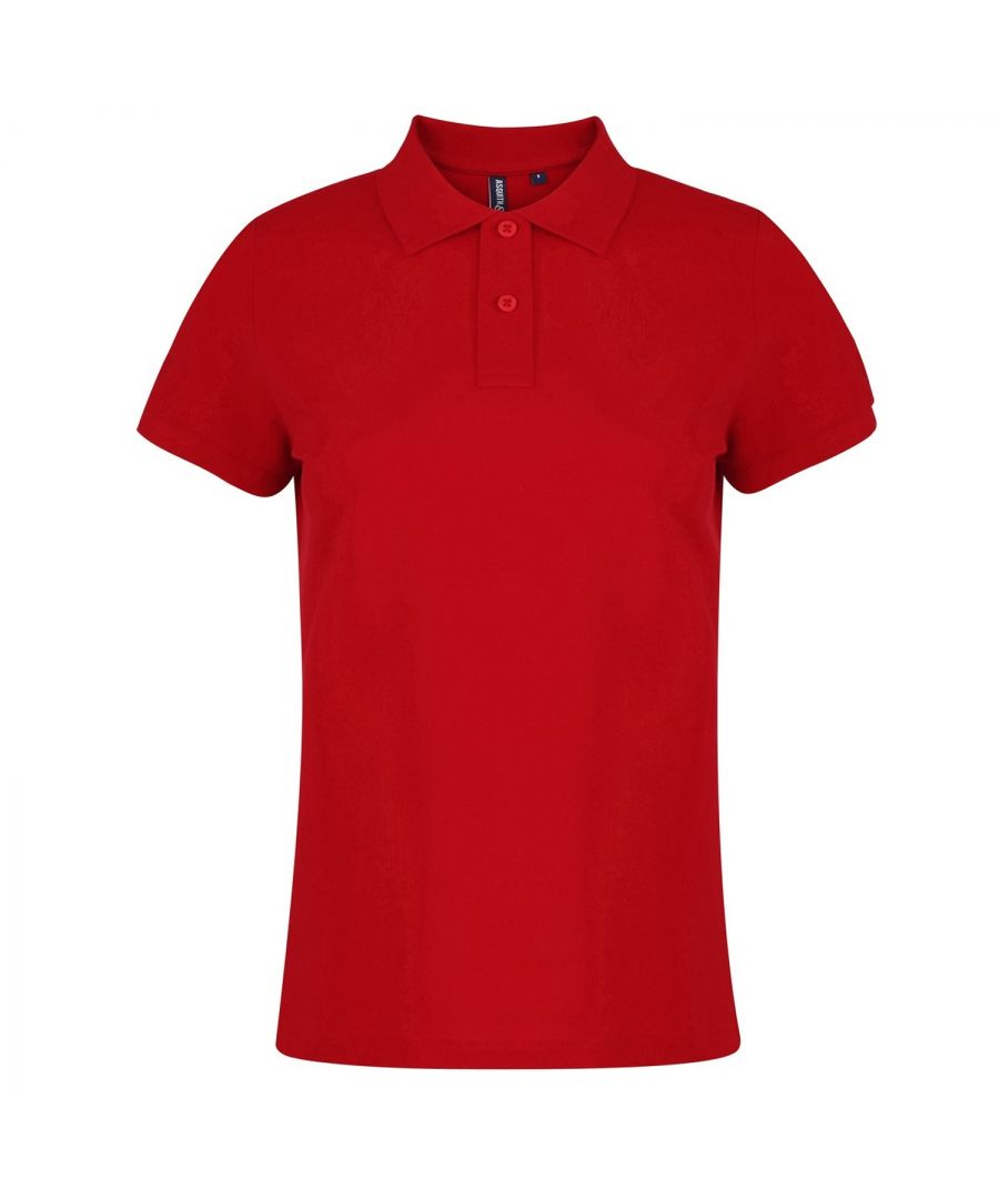 Image for Asquith & Fox Womens/Ladies Plain Short Sleeve Polo Shirt (Red)