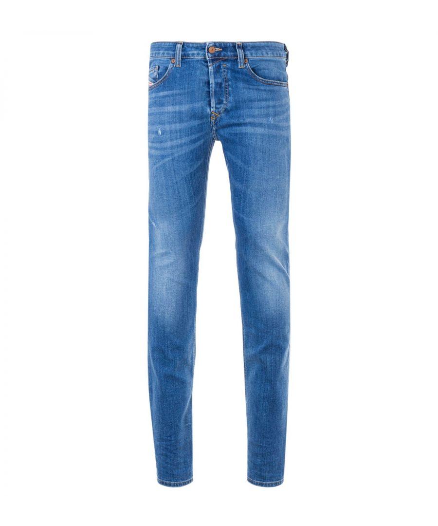 Image for Diesel Safado Straight Fit Jeans - Medium Blue