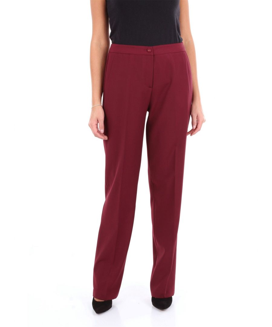 Image for BLUMARINE WOMEN'S 4057AMARANTO RED OTHER MATERIALS PANTS