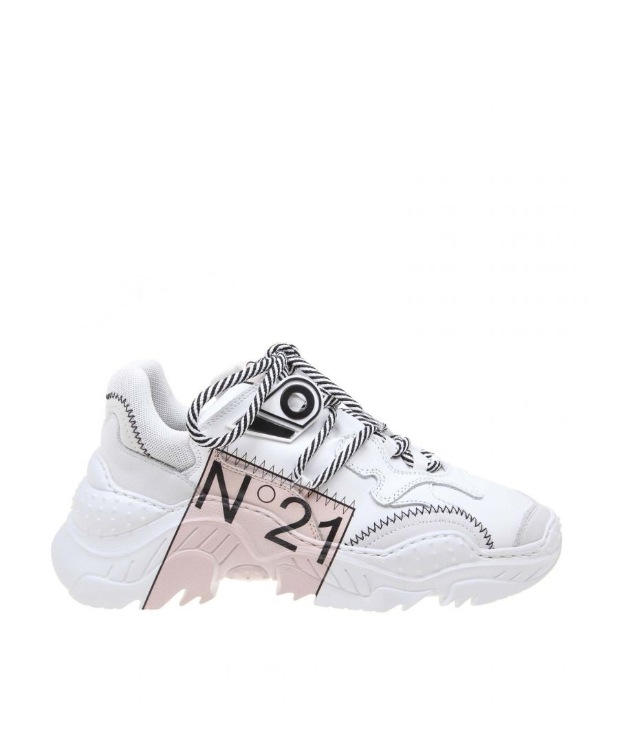 Image for N°21 WOMEN'S 00119FWS00830086S001 WHITE LEATHER SNEAKERS