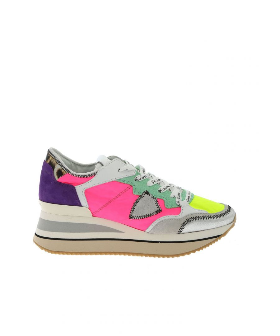 Image for PHILIPPE MODEL WOMEN'S TTLDRP09 MULTICOLOR LEATHER SNEAKERS