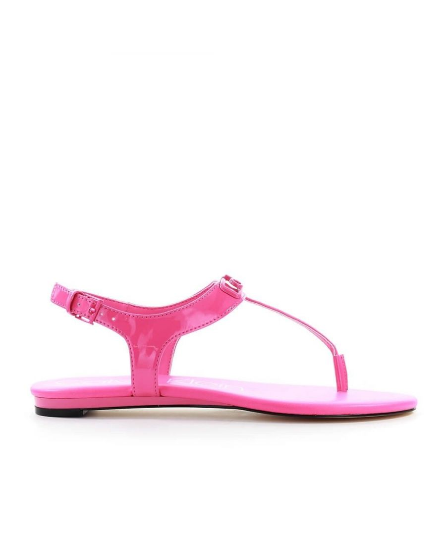 Image for CALVIN KLEIN WOMEN'S B4E7933670 FUCHSIA FAUX LEATHER SANDALS