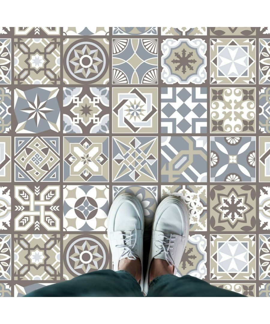 Image for WFS6002 - Limestone Spanish Tiles Floor Stickers 120cm x 60 cm